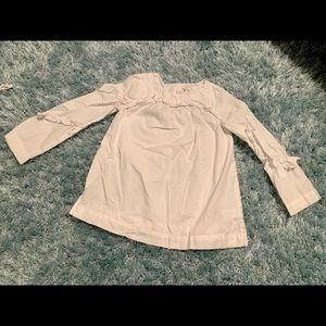 Jcrew girl ruffle pullover -100% cotton size 8